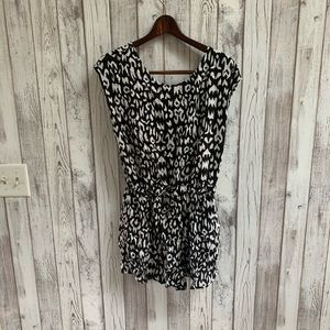 Black Poppy romper open back size large